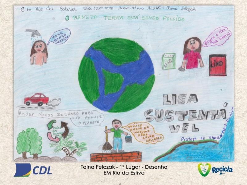 Vencedores do Concurso Recicla CDL na Escola 2018
